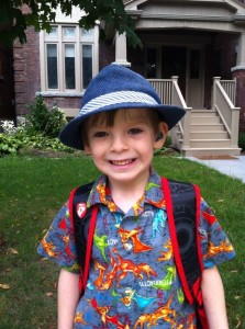 Gav First Day of School 2013